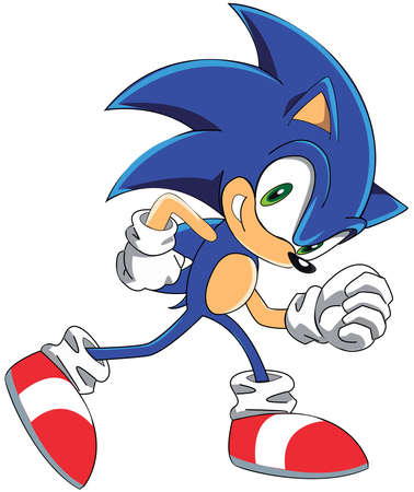 Sonic The Hedgehog illustration blue color