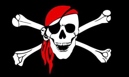 Pirate flag crossbones piracy