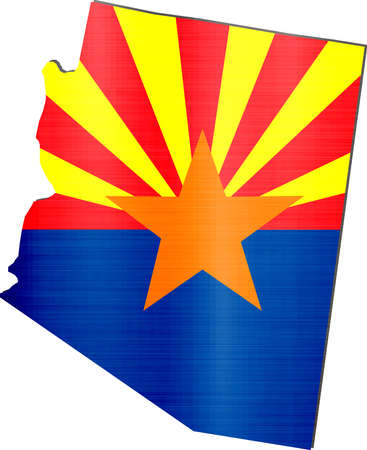 map arizona flag illustration Stock Photo