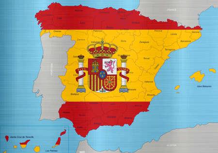 スペイン フラグ領域をマップします。