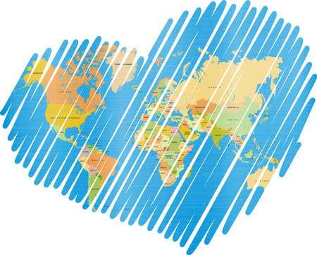 mapa conceptual: Mapa del mundo del corazón alineado