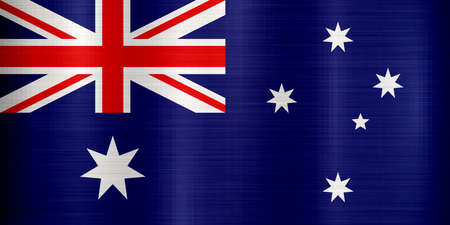 Australia Flag metallic texture