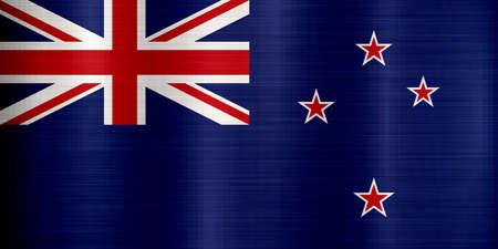 blue metallic background: Flag of New Zealand  metallic texture Stock Photo