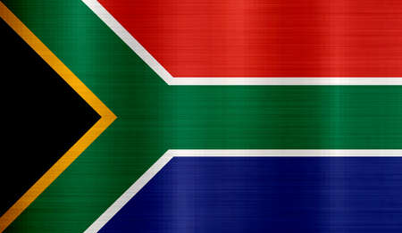 Flag of South Africa metallic texture