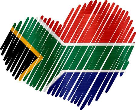 Herz Südafrika metallische Textur Standard-Bild - 82804443