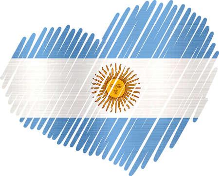 Bekleed hart Argentinië metalen textuur