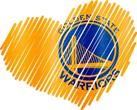 Lined Heart  golden state warriors Sajtókép