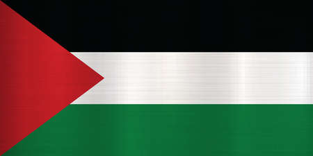 Flag of State of Palestine  metallic texture