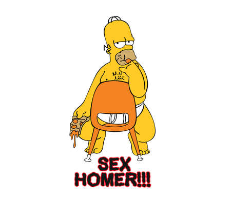 homer simpson sexy illustration