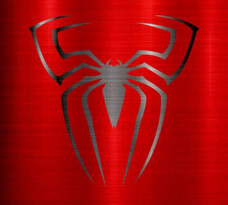 Spider man metallic texture Stockfoto - 82908434