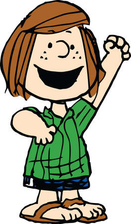 Peppermint Patty illustration character