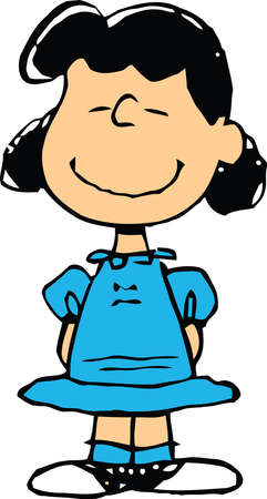 Smiling Lucy Van Pelt  illustration Editorial