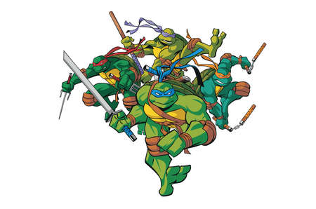 teenage mutant ninja turtles illustration