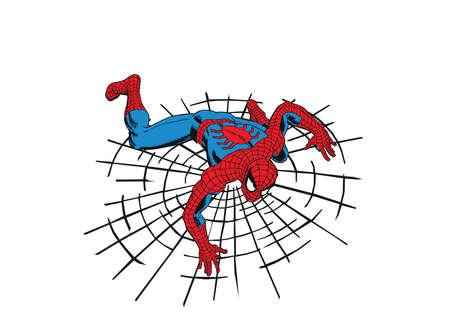 Spideman power hero illustratie Redactioneel