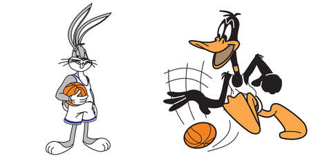 bunny bugs  Daffy Duck basketball