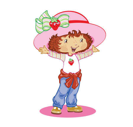 strawberry shortcake cartoon illustration