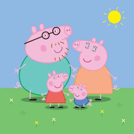 Peppa Pig Family illustration Editorial