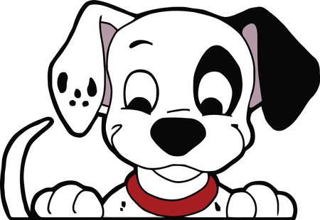 Dalmatian Puppy illustration dog Editorial
