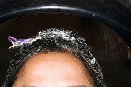 Moisturizing hair application Hydration