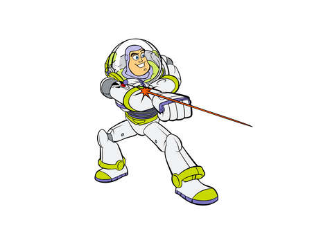 Toy Story zumba lightyear space ranger illustratio Foto de archivo - 83379213