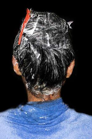 Moisturizing hair application Hydration head