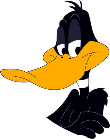 daffy duck black animated cartoon character Editorial