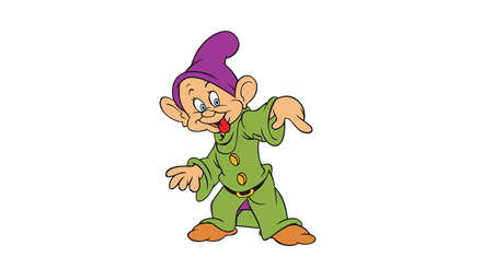 dwarfs: Seven Dwarfs  Dopey illustration