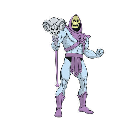 Masters of the Universe skeletor illustration cartoon