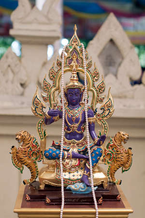 spirit thailand wat faith purple color Stock Photo