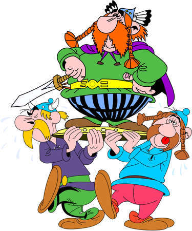 Asterix illustration french entertainment comedy abraracourcix