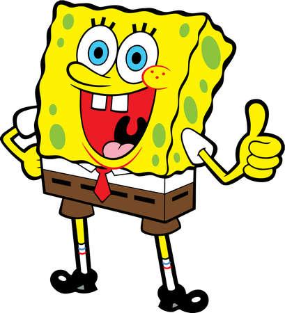 Spongebob Squarepants 해피 일러스트 어드벤처 에디토리얼