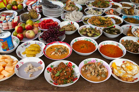 fresh thai food plates variety lifestyle