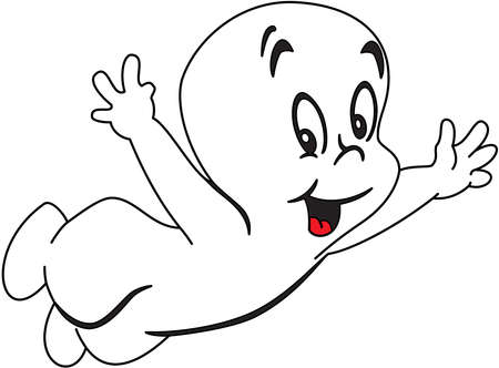 casper ghost illustration cartoon
