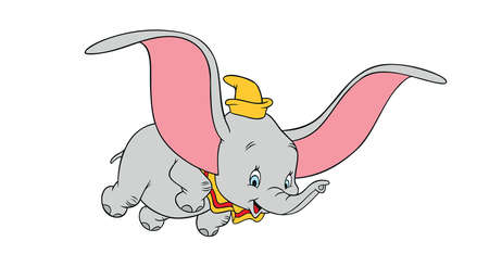 dumbo flying elephant illustration cartoon
