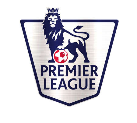 premier league logo football metallic illustration