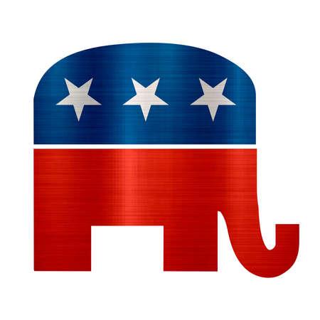 republican elephant party usa politics mrtallic logo