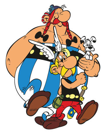 Asterix obelix  illustration french entertainment comedy 報道画像