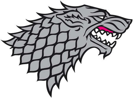house stark game of thrones illustration Standard-Bild - 104746415