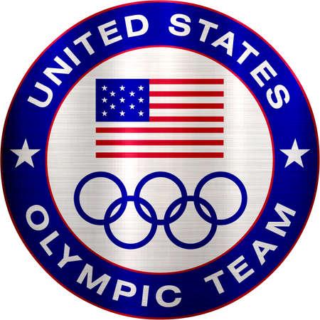 united states olympic team metallic logo sports