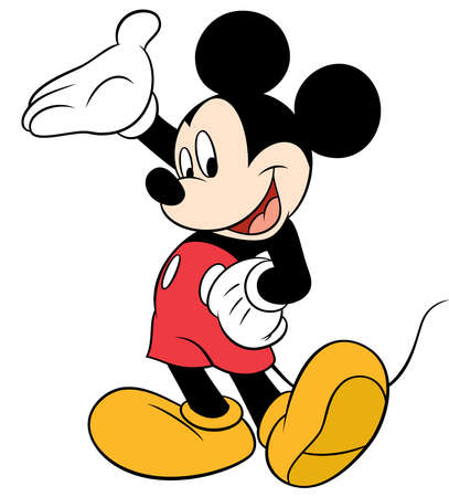 mickey mouse character cartoon happpy illustration welcome Редакционное