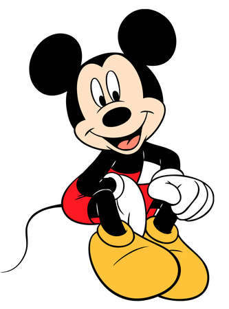 mickey mouse character cartoon seated