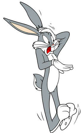 bugs bunny creeped out astonished character illustration cartoon Editorial