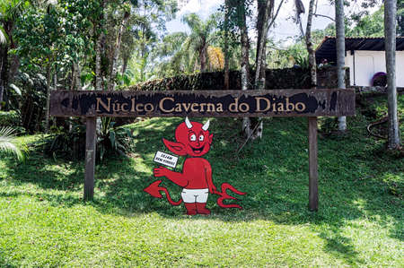 caverna do diabo devil cave sign state park