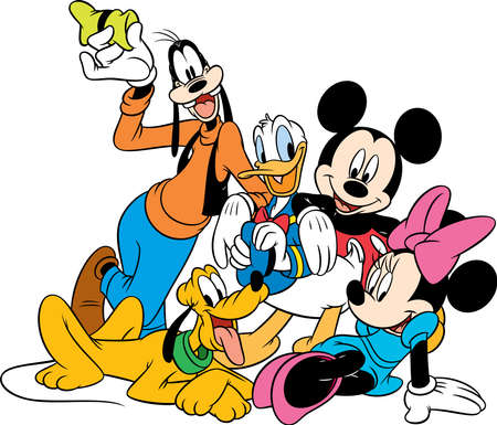 goofy  donald duck minnie mouse mickey mouse pluto characters  illustration funny