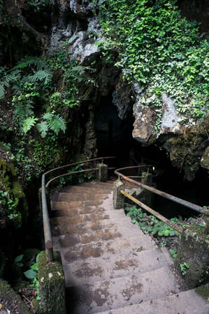 caverna do diabo devils cave entrance Brazil walkway outdoors