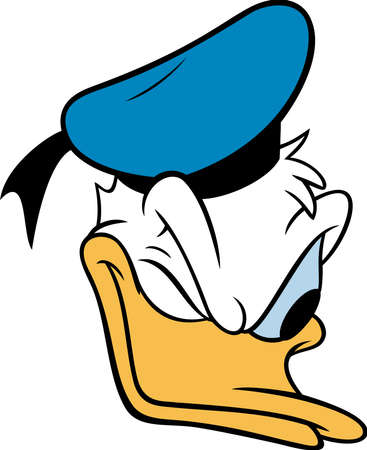 Donald duck illustration cartoon head donald suspicious Redakční