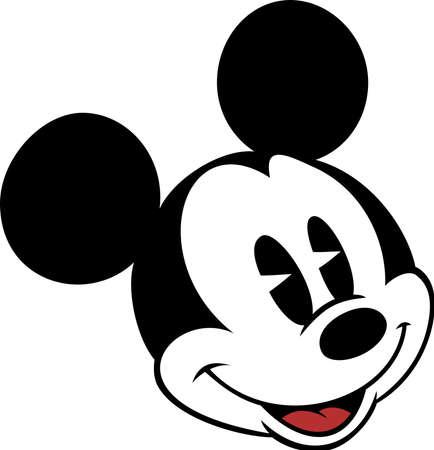 mickey mouse head character cartoon smile illustration vintage