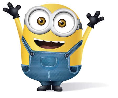 minion yellow glasses character illustration cartoon Foto de archivo - 104747498