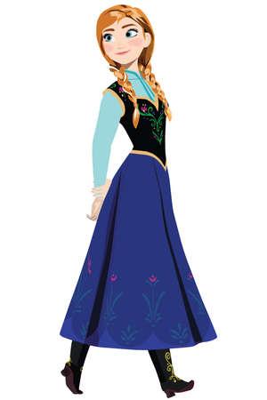 frozen princess anna illustration cartoon Stock Photo - 104747519