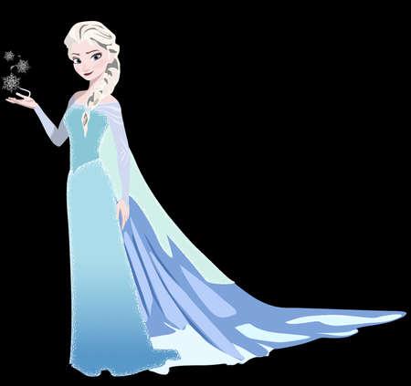 frozen queen elsa illustration cartoon character